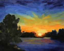 river-at-sunset-2015-op5-5x7in