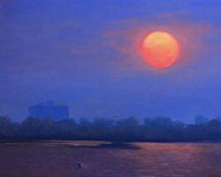 GDK18-16-Urban-Sunset-study-2016-OC-11X14in