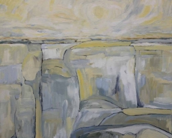 GDK#03-17a, Landscape Study #3, oil & acrylic on Panel, 16inX16in