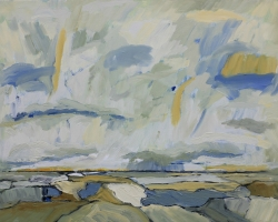 Landscape Study #2, SOLD, oil & acrylic on panel, 11inx14in sf