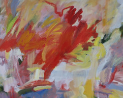 GDK10-20-M-2020-Red-Hot-acrylic-on-Canvas-40inX60in