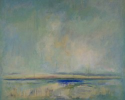 Signal #16, 2016, oil & acrylic on canvas, 36inx48in