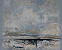 Signal #3, oil & acrylic on canvas, 40inx44in, sf
