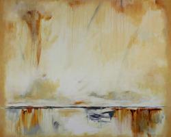 Signal #8, 2017, oil & acrylic on canvas, 42inx48in, sf